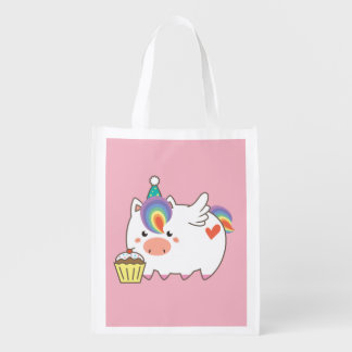 Unicorn Birthday Reusable Grocery Bag