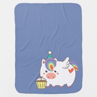 Unicorn Birthday Stroller Blankets