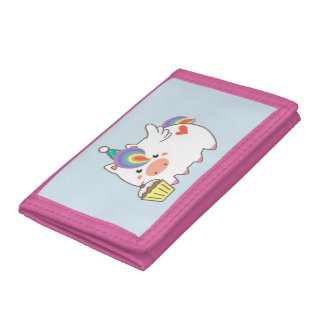 Unicorn Birthday Trifold Wallets
