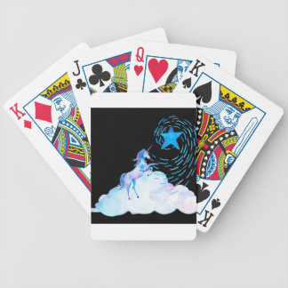 Unicorn black 1 bicycle playing cards