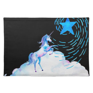 Unicorn black 1 placemat