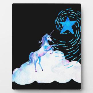 Unicorn black 1 plaque
