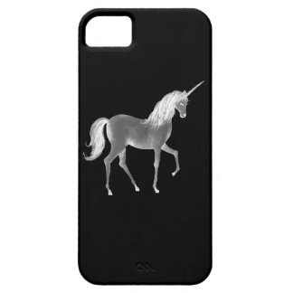 Unicorn Black and White Print iPhone 5 Covers