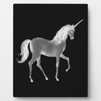 Unicorn Black and White Print Plaque