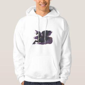 Unicorn Black Purple Winged Pegasus Horse Pony Hoodie