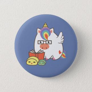Unicorn Bookworm 2 Inch Round Button