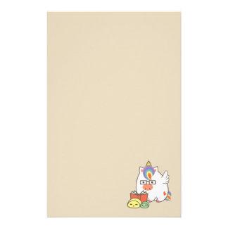 Unicorn Bookworm Stationery Design