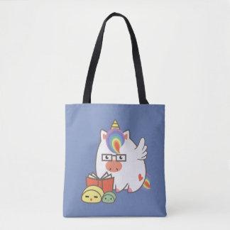 Unicorn Bookworm Tote Bag