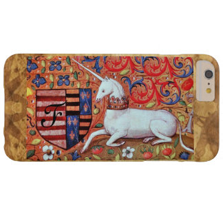 UNICORN Brown Parchment Monogram Barely There iPhone 6 Plus Case