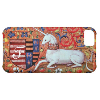 UNICORN Brown Parchment Monogram Cover For iPhone 5C