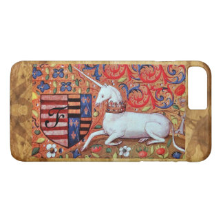 UNICORN Brown Parchment Monogram iPhone 7 Plus Case