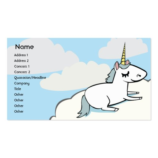 Unicorn - Business Business Card Templates