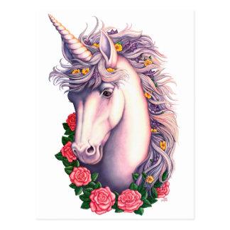Unicorn Cameo Postcard