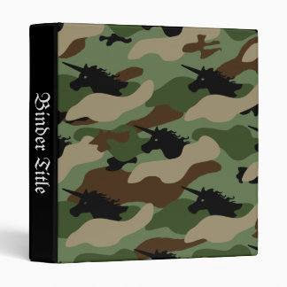 Unicorn Camouflage 3 Ring Binders