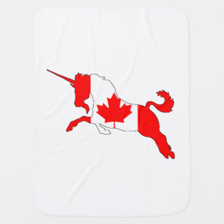 Unicorn Canada Swaddle Blankets