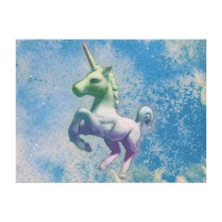 Unicorn Canvas Art Print 24x18 (Blue Arctic)