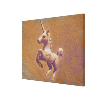 Unicorn Canvas Art Print 24x18 (Metal Lavender)