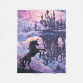 Unicorn Castle Fleece Blanket