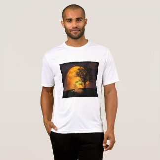 Unicorn Casually Relaxing Under the Tree at Night T-Shirt