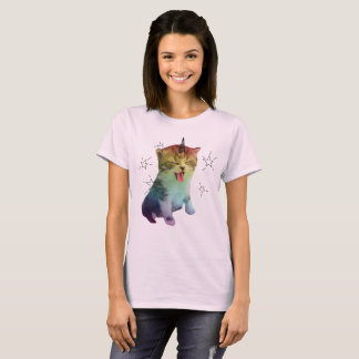 Unicorn Cat Shirt Pink Caticorn Rainbow Pride Purr