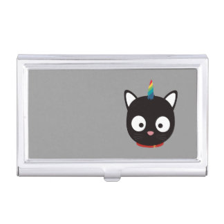 Unicorn Cat with rainbows Z0ml8 Business Card Holder