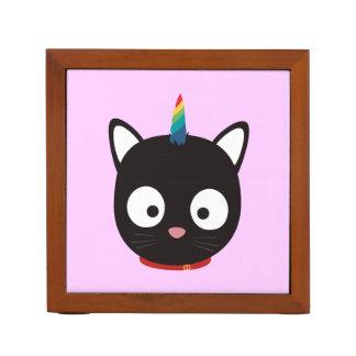 Unicorn Cat with rainbows Z0ml8 Desk Organizer