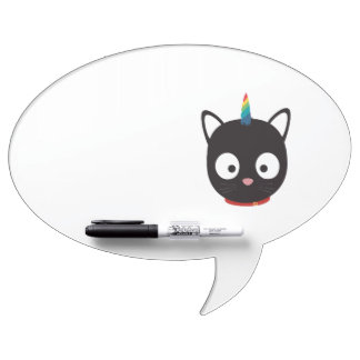 Unicorn Cat with rainbows Z0ml8 Dry Erase Board