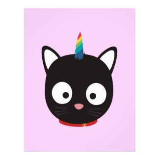 Unicorn Cat with rainbows Z0ml8 Flyer