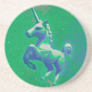 Unicorn Coaster - Sandstone Rnd (Glowing Emerald)