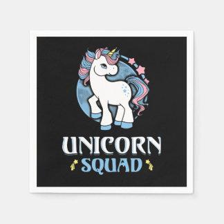 Unicorn command paper napkin