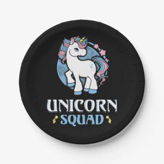 Unicorn command paper plate
