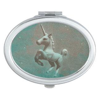 Unicorn Compact Mirror Oval (Teal Steel)