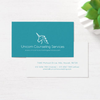 Unicorn counseling services or other business card