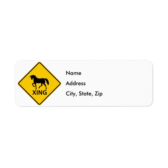 Unicorn Crossing Highway Sign