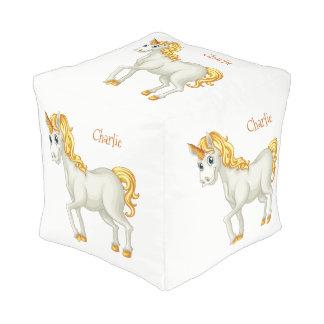 Unicorn custom name poufs
