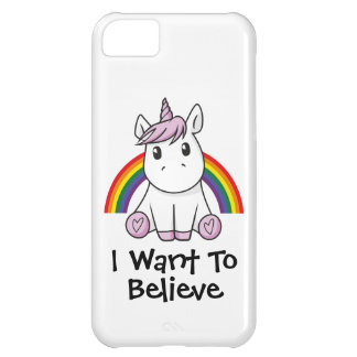 Unicorn (customizable text) Illustration Cover For iPhone 5C