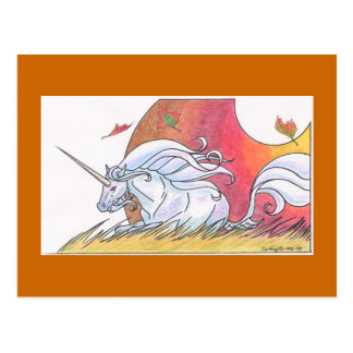 Unicorn Cycle - Autumn ©1999 Postcard
