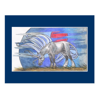Unicorn Cycle - Winter ©1999 Postcard