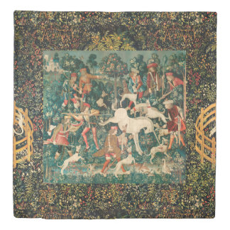 UNICORN DEFENDS ITSELF,Other Animals Green Duvet Cover