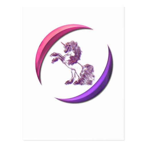 Unicorn Design Postcard