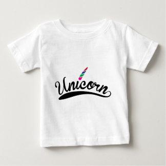 Unicorn Design Rainbow Word Letters Baby T-Shirt