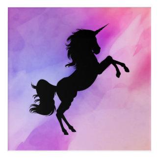 Unicorn designed Colofull 12x12 Wallart Acrylic Print