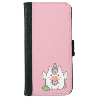Unicorn & Donuts iPhone 6 Wallet Case
