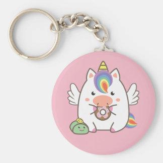Unicorn & Donuts Keychain