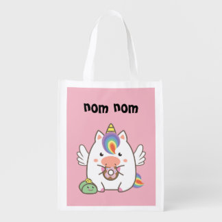Unicorn & Donuts Reusable Grocery Bag