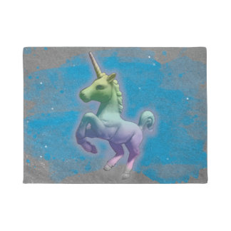 Unicorn Door Mat (Blue Nebula)