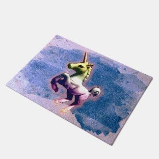 Unicorn Door Mat (Burnt Blue)