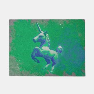 Unicorn Door Mat (Glowing Emerald)