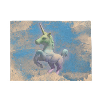 Unicorn Door Mat (Sandy Blue)