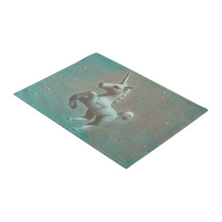 Unicorn Door Mat (Teal Steel)
